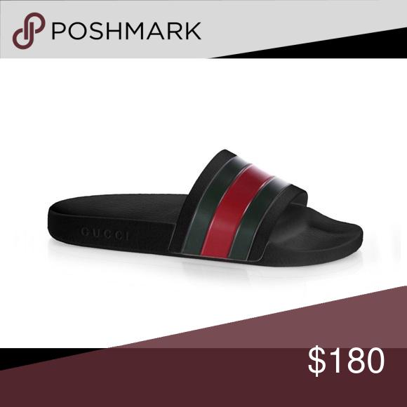 64cc0451a96 Men s Gucci Slide Brand new Gucci Pursuit 72 Rubber Slide Gucci Shoes  Sandals