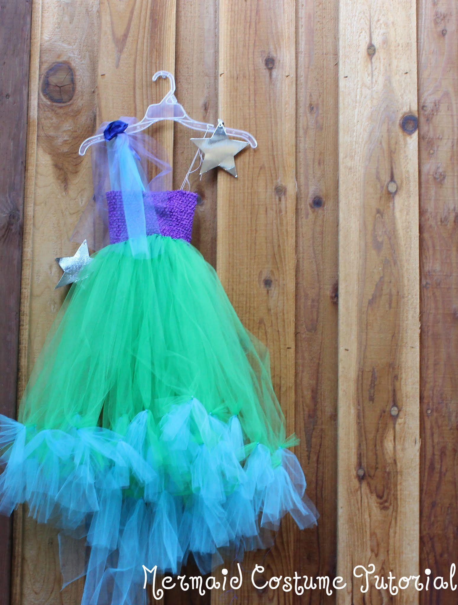 No Sew Mermaid Costume DIY Tutorial | Princess Allie\'s tea party ...