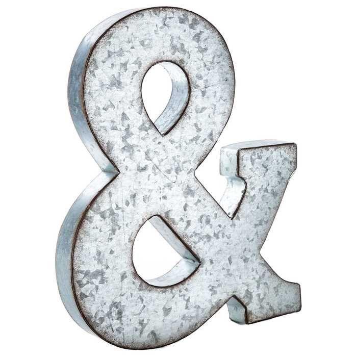 Large Silver Metal Letters & Large Galvanized Metal Letter  Trendlive Jack  Pinterest