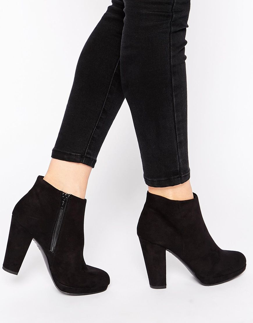 New Look Heeled Ankle Boots http://www