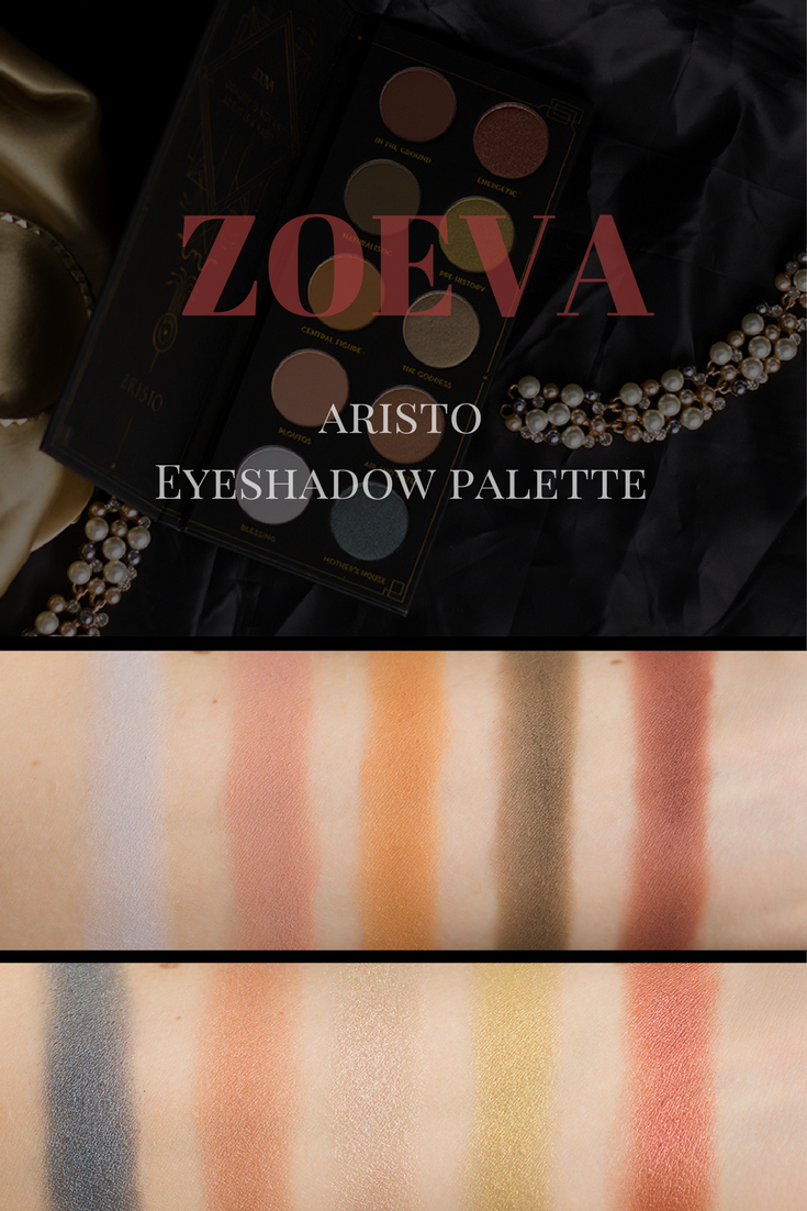 zoeva aristo eyeshadow palette eyeshadow and swatch