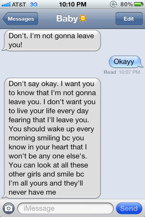 Texts That Savannah And Her Boyfriend Jared Send Is The Blue