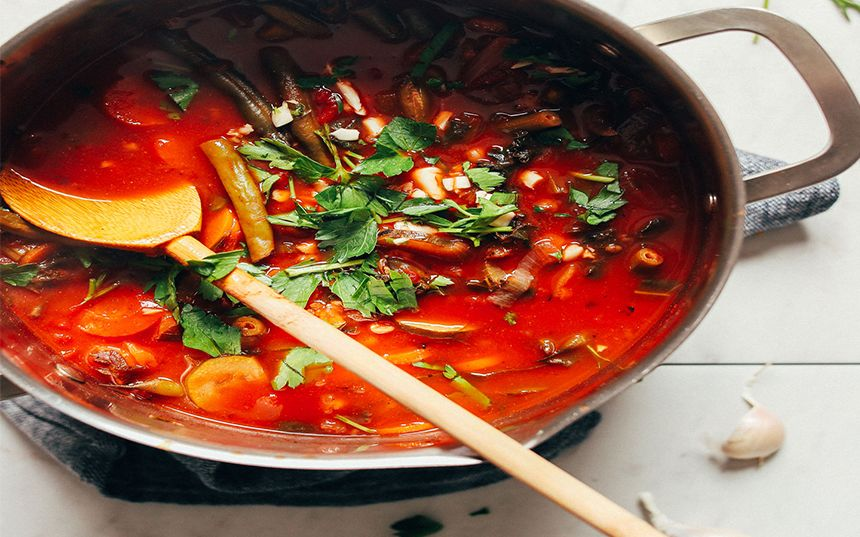 How to make vegetable soup fire roasted tomatoes