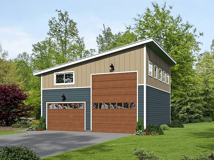 Modern Garage Plan 062g 0076 Garage Plans With Loft Garage Plans Detached Garage Plan