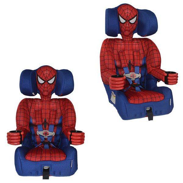 Kids Spider Man Embrace Harness Booster Car Seat