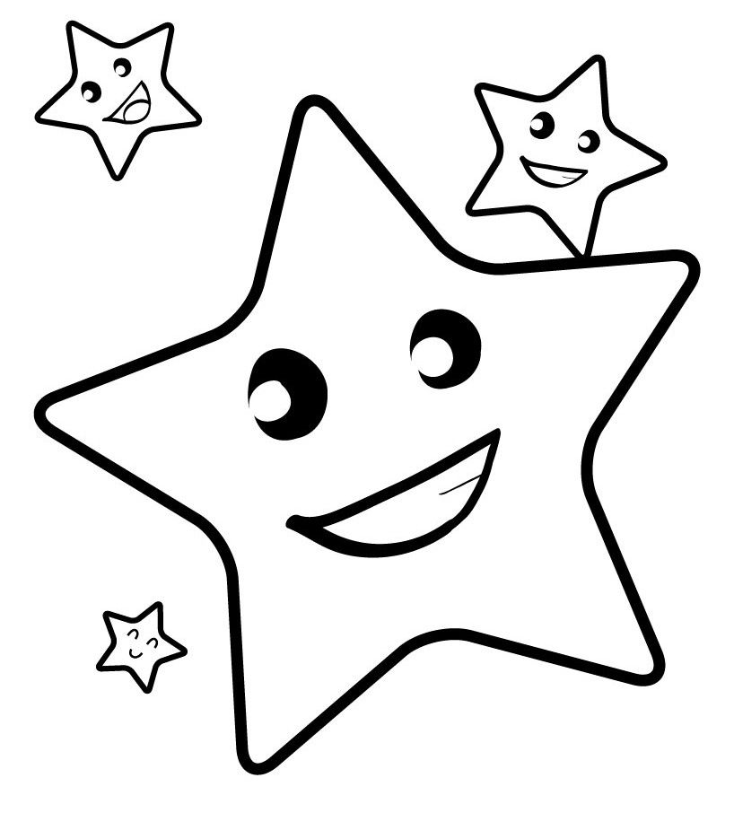 Image Result For Coloring Book Pages For Toddlers Star Coloring Pages,  Coloring Pictures For Kids, Easy Coloring Pages