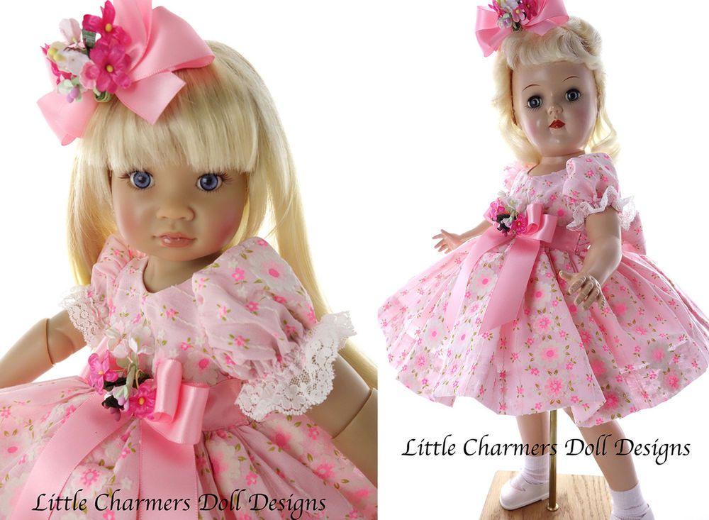 "Dress for Toni P-92, 19"" doll, 18"" doll. OOAK. by   Little Charmers Doll Designs #LittleCharmersDollDesigns"