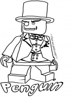 free printable lego batman penguin coloring pages for kids free print out lego batman 2 - Lego Batman Coloring Pages