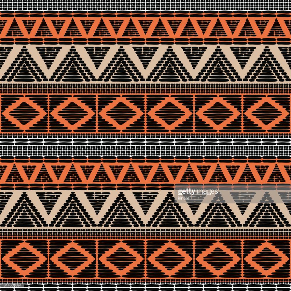 Stock Illustration : Tribal pattern vector seamless ...