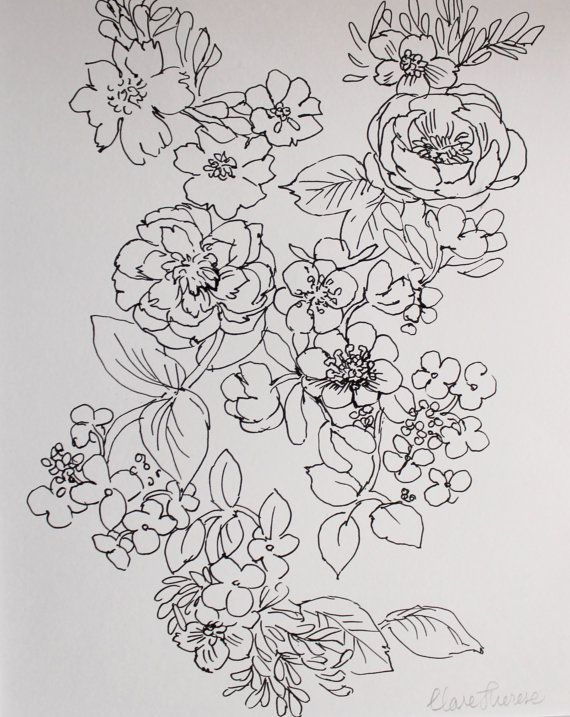1000 ideas about floral drawing on pinterest botanical prints