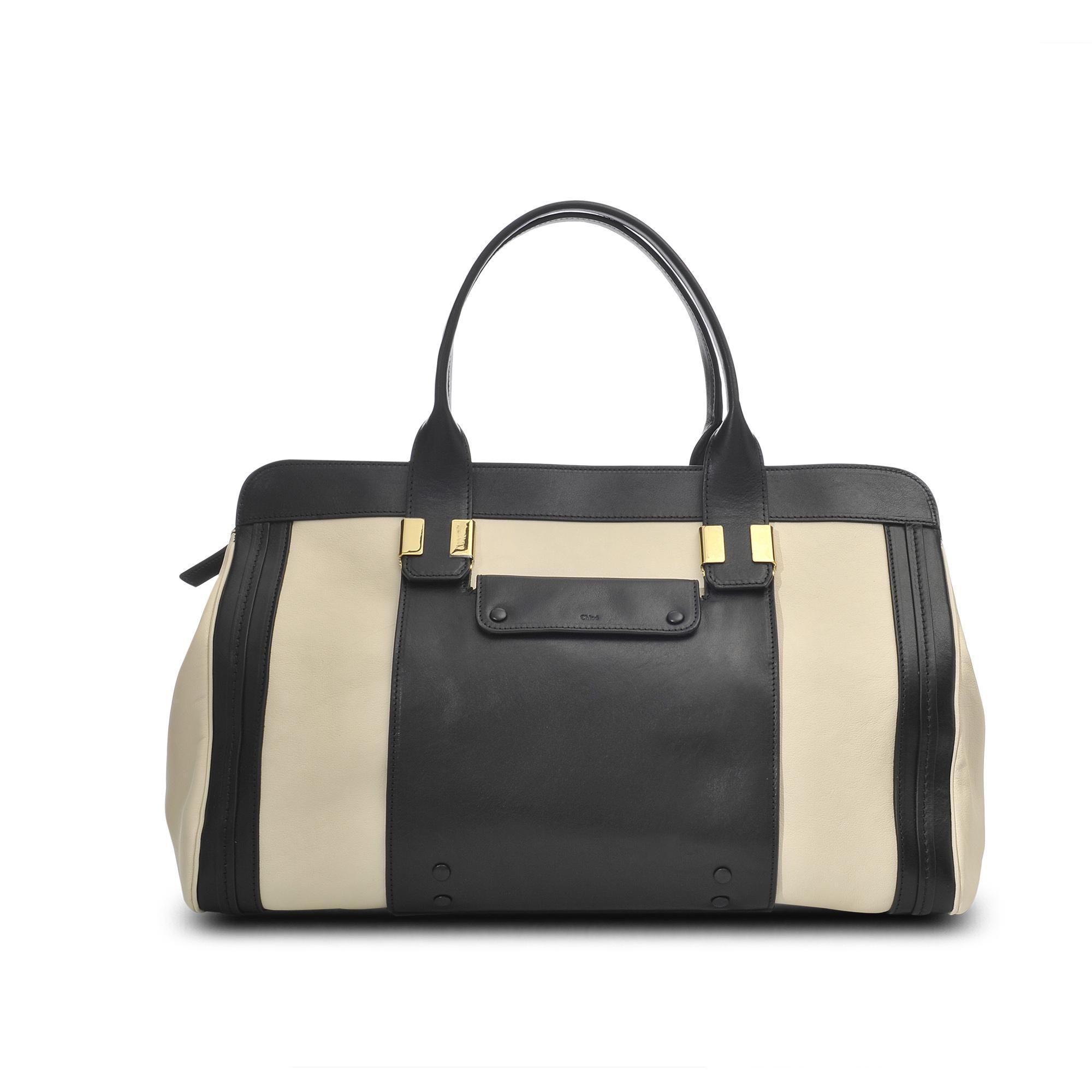 05d0b4939f Grand sac Alice cuir bicolore - Chloé -Monnier Frères