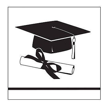 Our White Congrats Grad Beverage Napkins feature a black ...