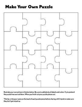 Create Your Own Puzzle | Pinterest | Unterrichtsprojekte, Kuh und Schule