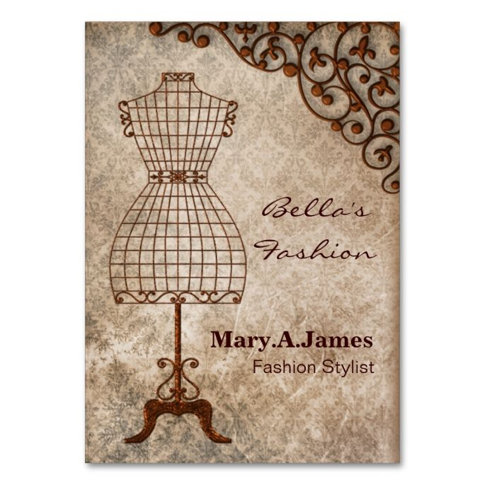vintage mannequin fashion business cards vintage the o