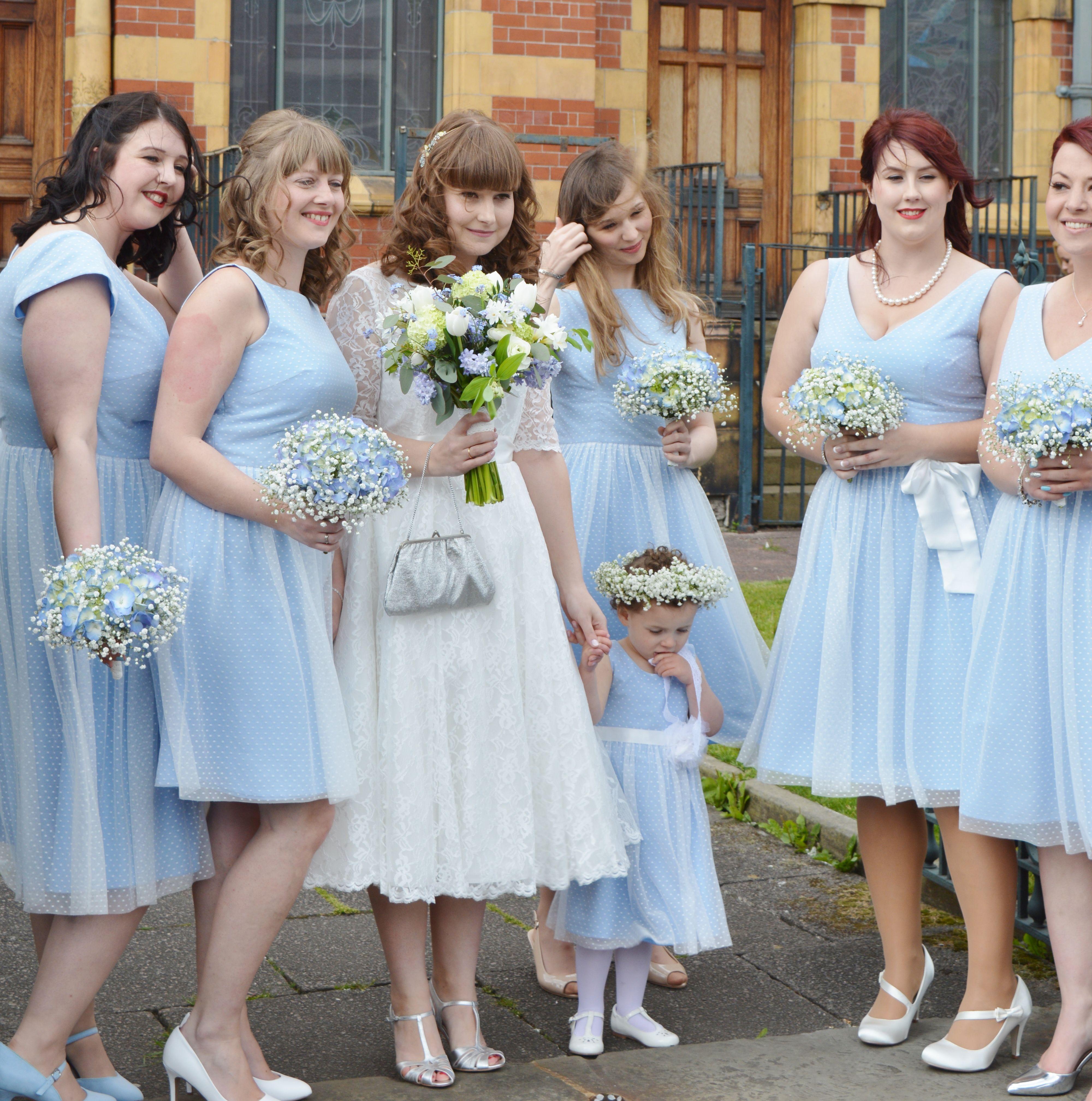 Pretty vintage wedding at Victoria Baths Manchester. Bride bouquets ...