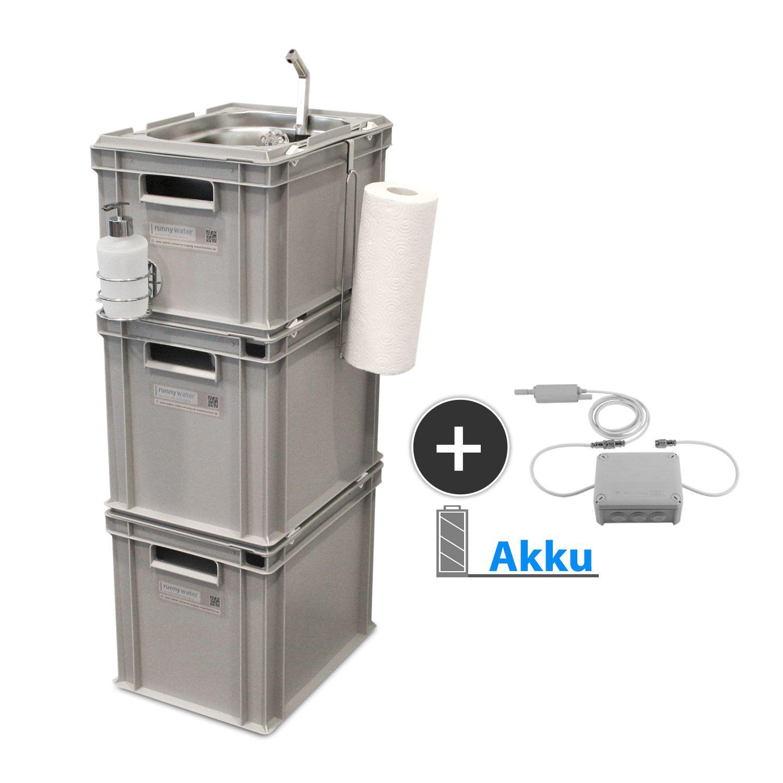 Akku Betrieb Mobile Wasserversorgung Wasserversorgung Heisswasser Camping Waschbecken