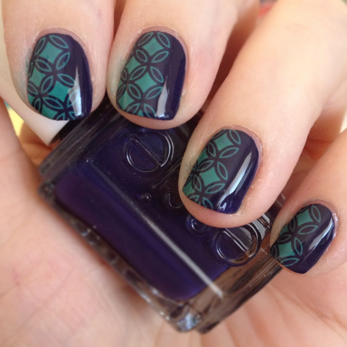 Purple & Green Konad