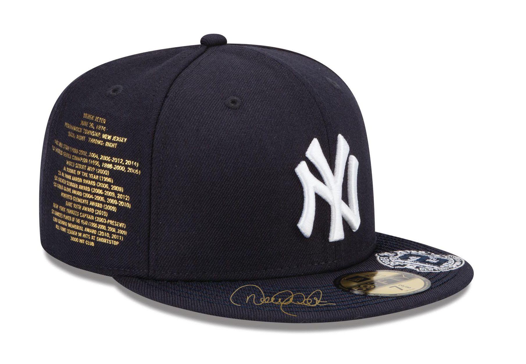 New Era For Atmos Nyc Ny Yankees Derek Jeter Fitted Hat Hats For Men Fitted Hats Derek Jeter