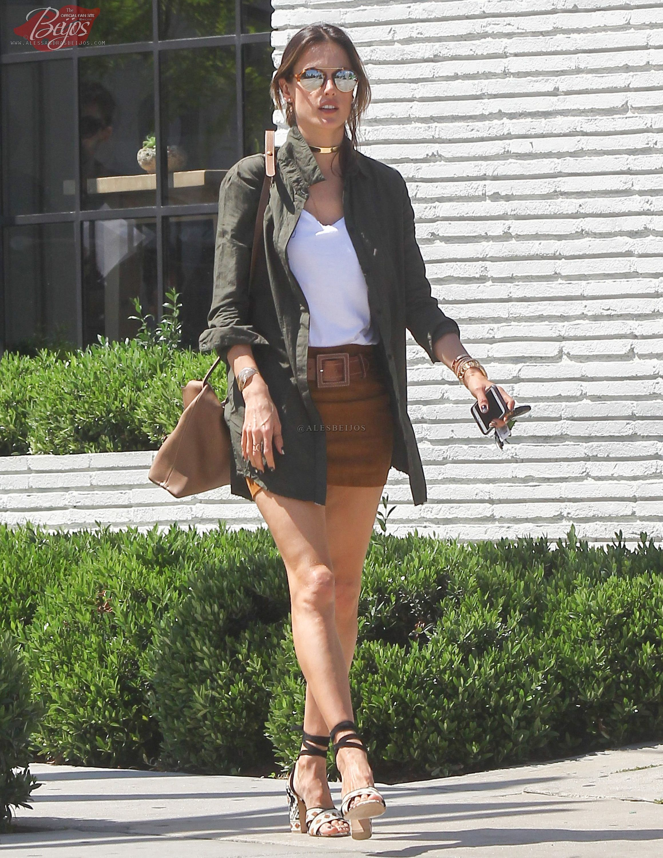 470b9407fa Alessandra Ambrosio was spotted out and about in Los Angeles ...