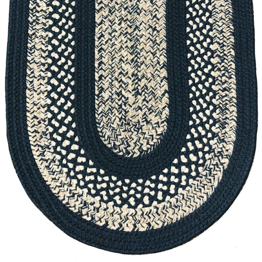 Braided Rug Midnight Blue 123 Classic In 2020 Rugs Midnight Blue Oval Rugs