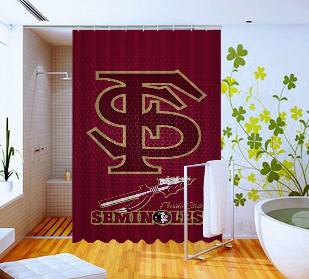 Florida State Seminoles Grid Logo High Quality Custom Shower Curtain 60 X 72 Unbranded