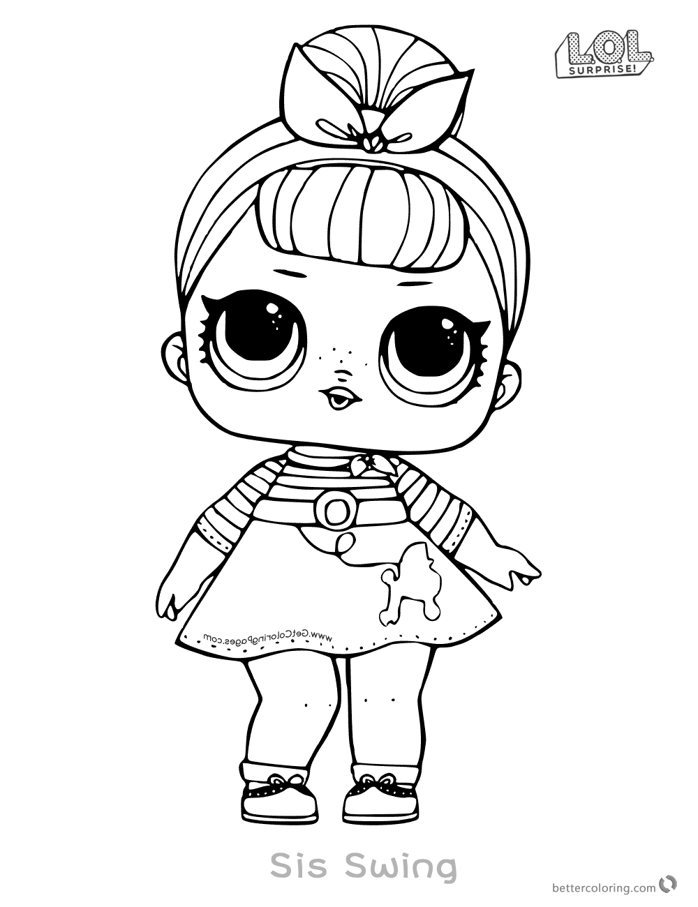Lol Surprise Doll Coloring Pages Sis Swing Coloring Pages Cool