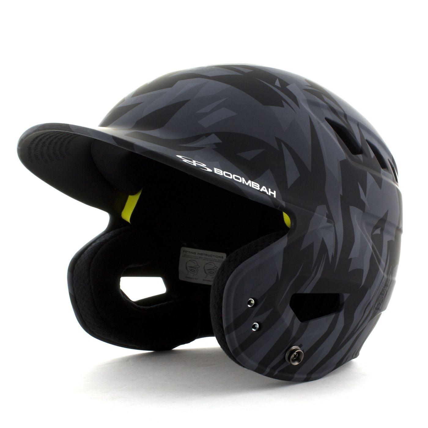 Boombah DEFCON Stealth Camo Batting Helmet Black Batting