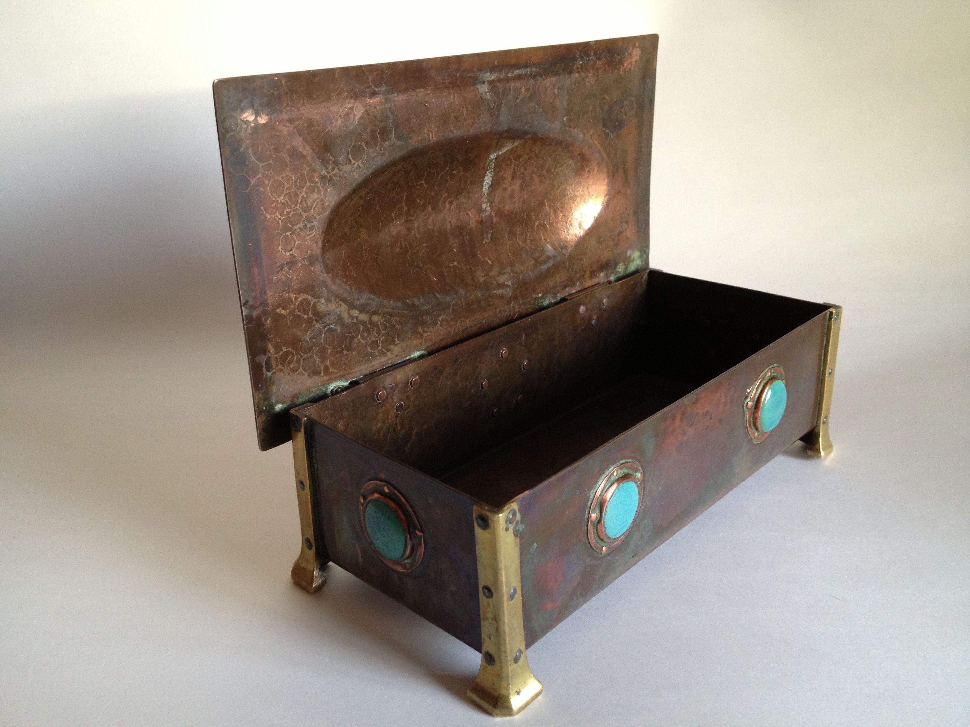 Arts and craft box - Arts And Crafts Copper Box