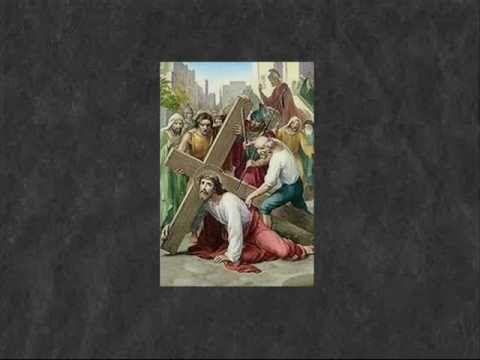 Canto da Via Sacra - 3ª estação - Jesus cai pela primeira vez.