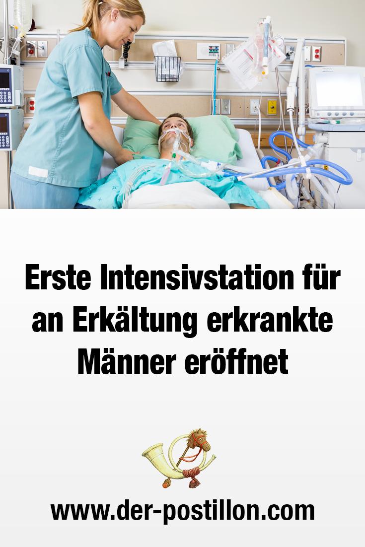 Erste Intensivstation für an Erkältung erkrankte Männer