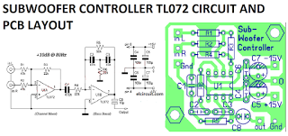 subwoofer controller uses a single ic tl072 arduino pinterest subwoofer circuit diagram using ic 4558 subwoofer controller uses a single ic tl072 circuit diagram