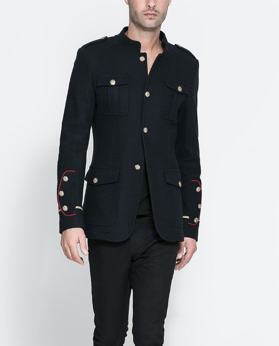 MILITARY JACKET WITH POCKET FLAPS from Zara