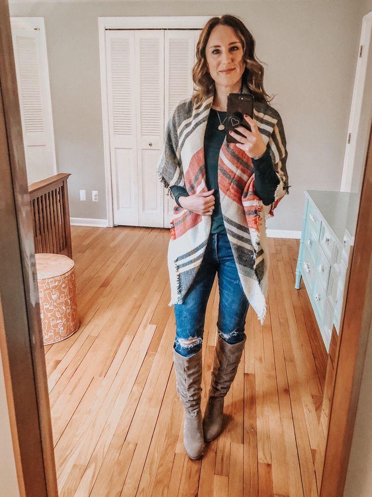 4 ways to wear a blanket scarf London fashion bloggers