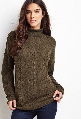 Marled Mock Neck Sweater | Forever 21 - 2000141592