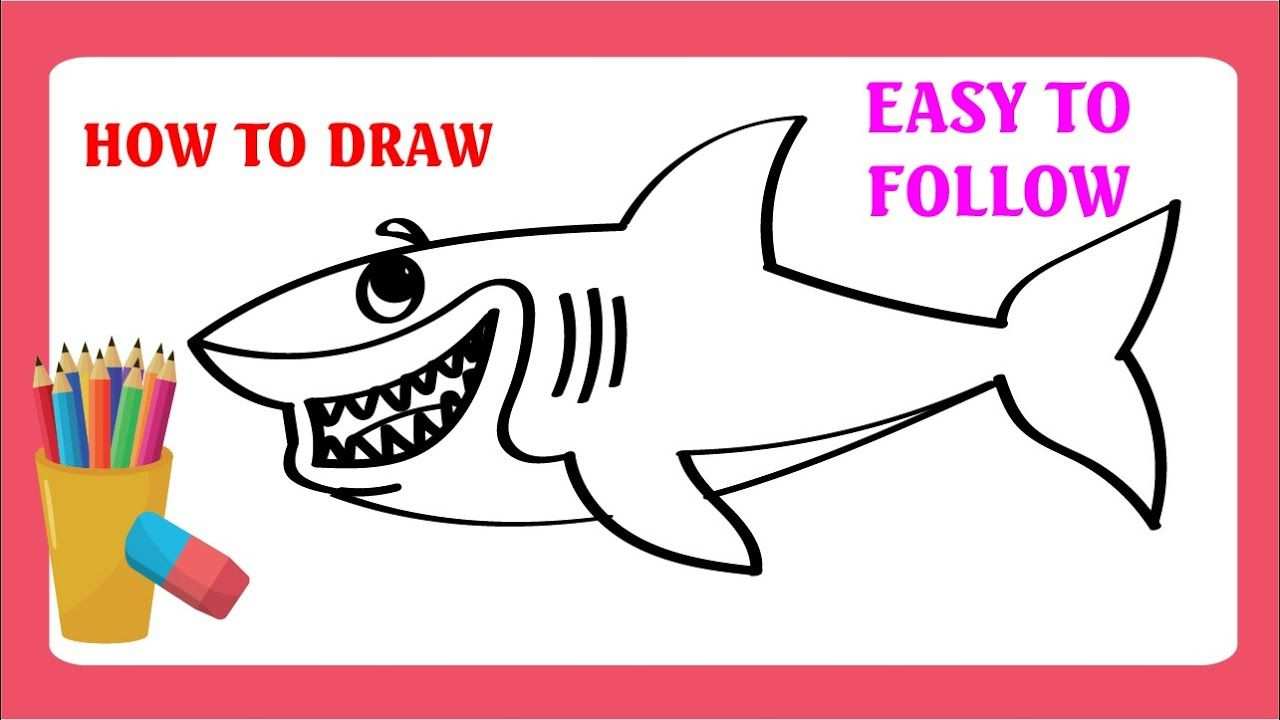 How To Draw A Shark Dolphin And Fish Easy Step By Step Guides