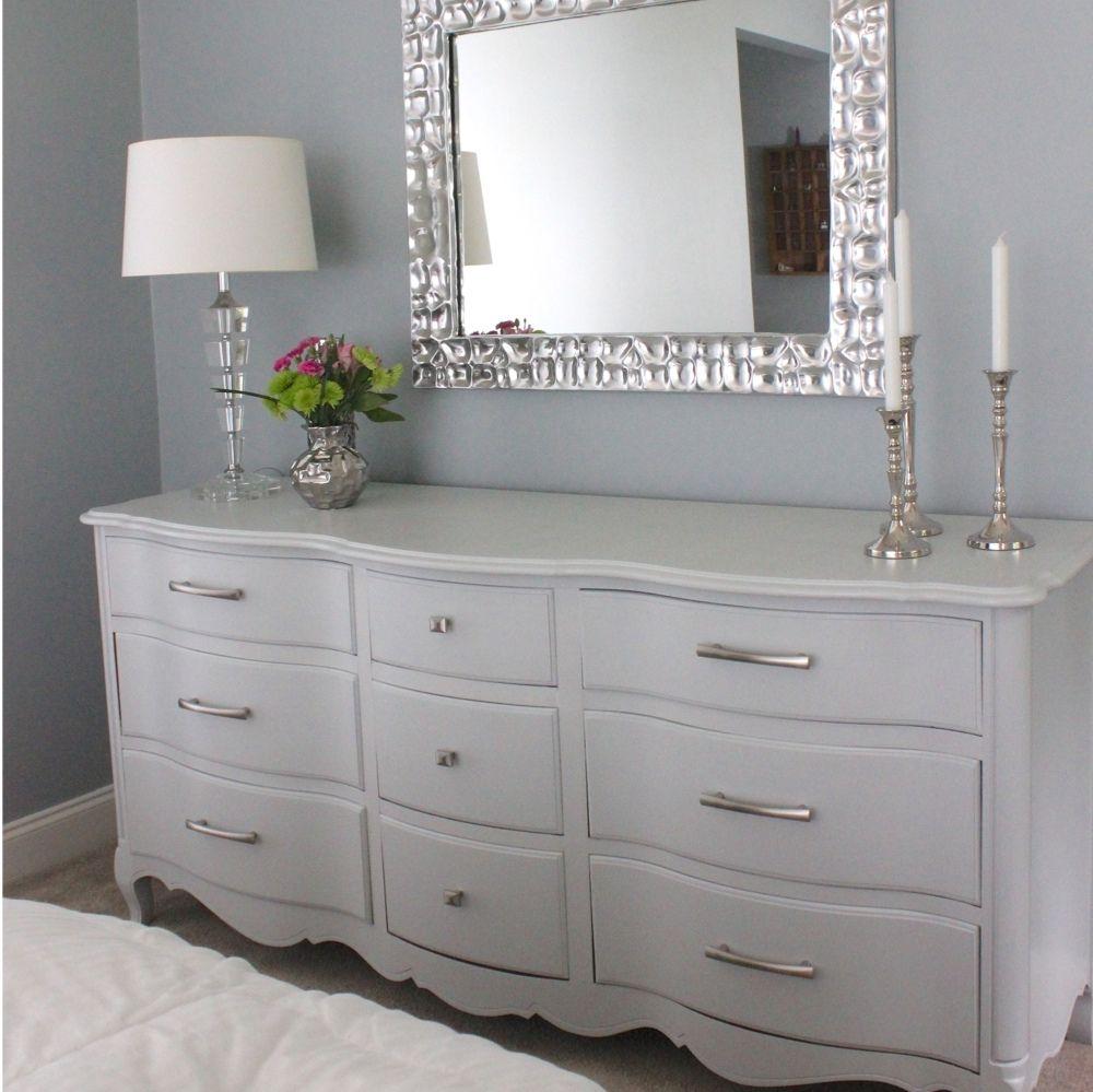 Big Grey Dresser 005a Home Bedroom Modern French Provincial Bedroom Makeover [ 999 x 1000 Pixel ]