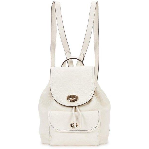 Womens Backpacks Coach Mini Cream Leather Backpack ($400) ❤ liked ...