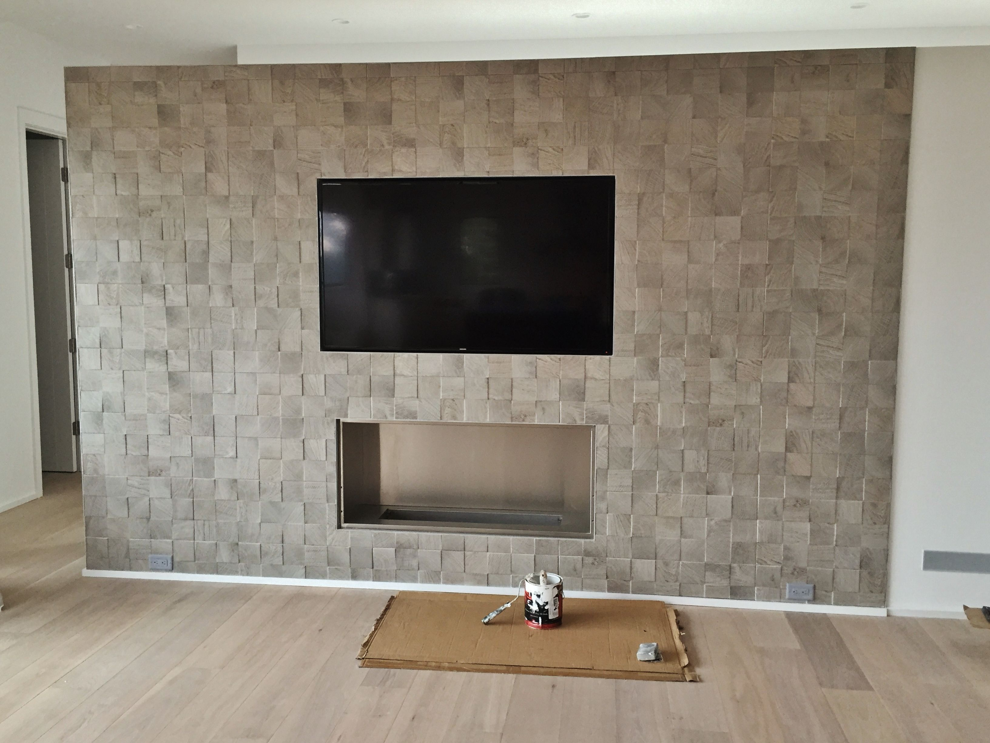 Porcelain Tile At Fireplace Tv Wall Fireplace Tv Wall