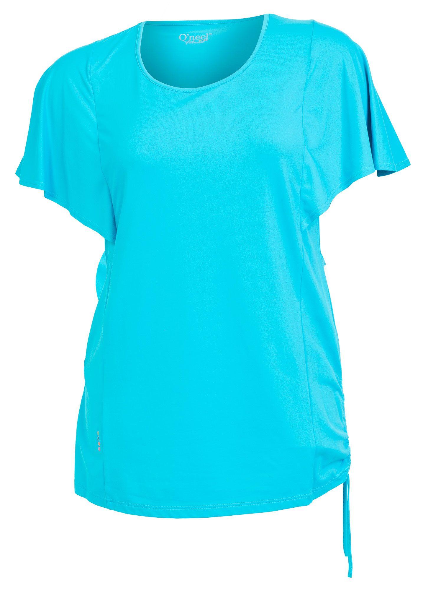 99386456 Super cool Turkis blå fitness top med flagermus ærmer Q`neel Modetøj til  Damer i