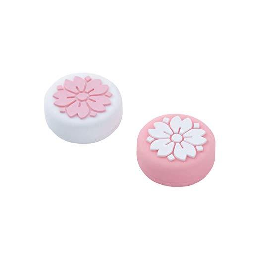 Amazon Com Geekshare 4pcs Silicone Sakura Paw Joy Con Thumb Grip