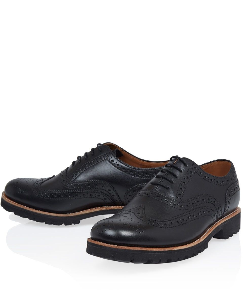 Grenson Black Stanley Commando Leather Shoes | Men's Shoes by Grenson |  Liberty.co.