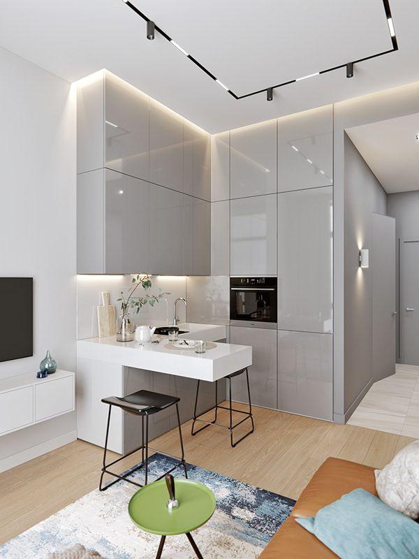 Art residence v 2 on behance oficce departament en for Cocinas y salas integradas modernas