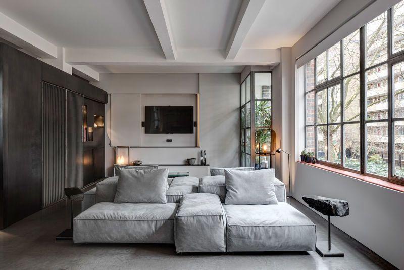 Grau in Grau Dexter, Room and Interiors - Laminat Grau Wohnzimmer