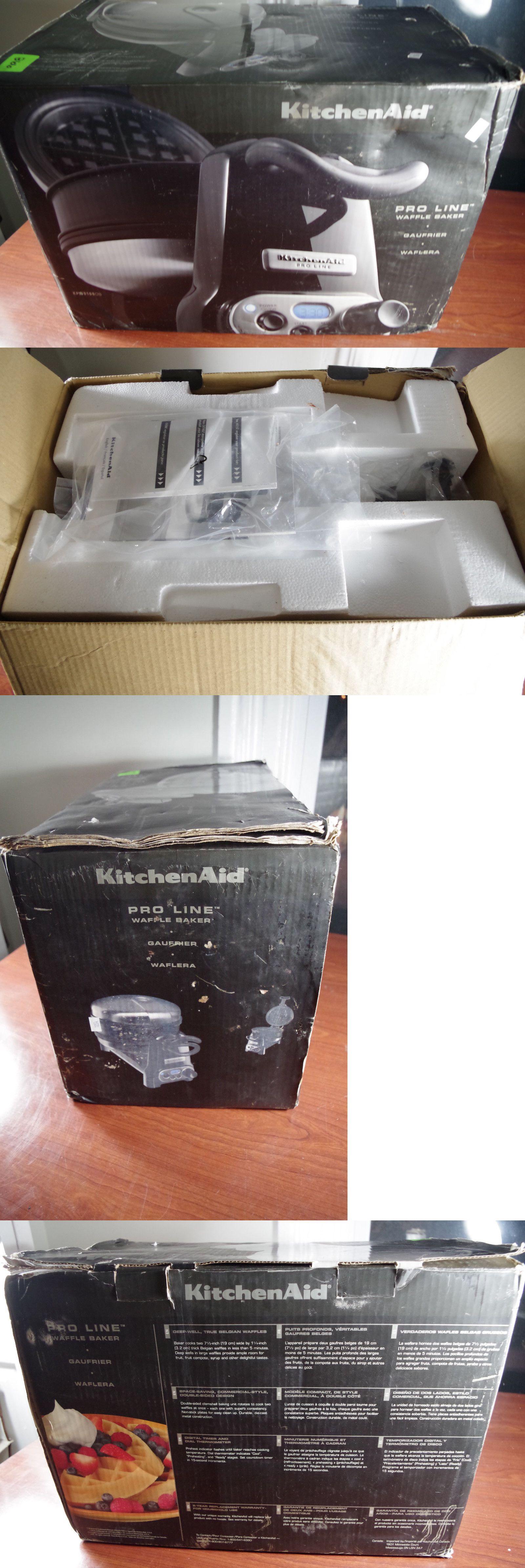 Kitchenaid pro line belgian waffle maker baker kpwb100 new
