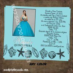 Under The Sea Theme Invitations Under The Sea Quinceanera Theme