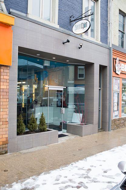 Modern Hair Salon Storefront Design 02 | 222 | Pinterest | Salons ...