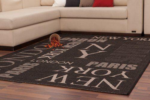 Lalee 347180516 Teppich   Sisal Optik   Flach   Küche   Muster - teppiche für die küche