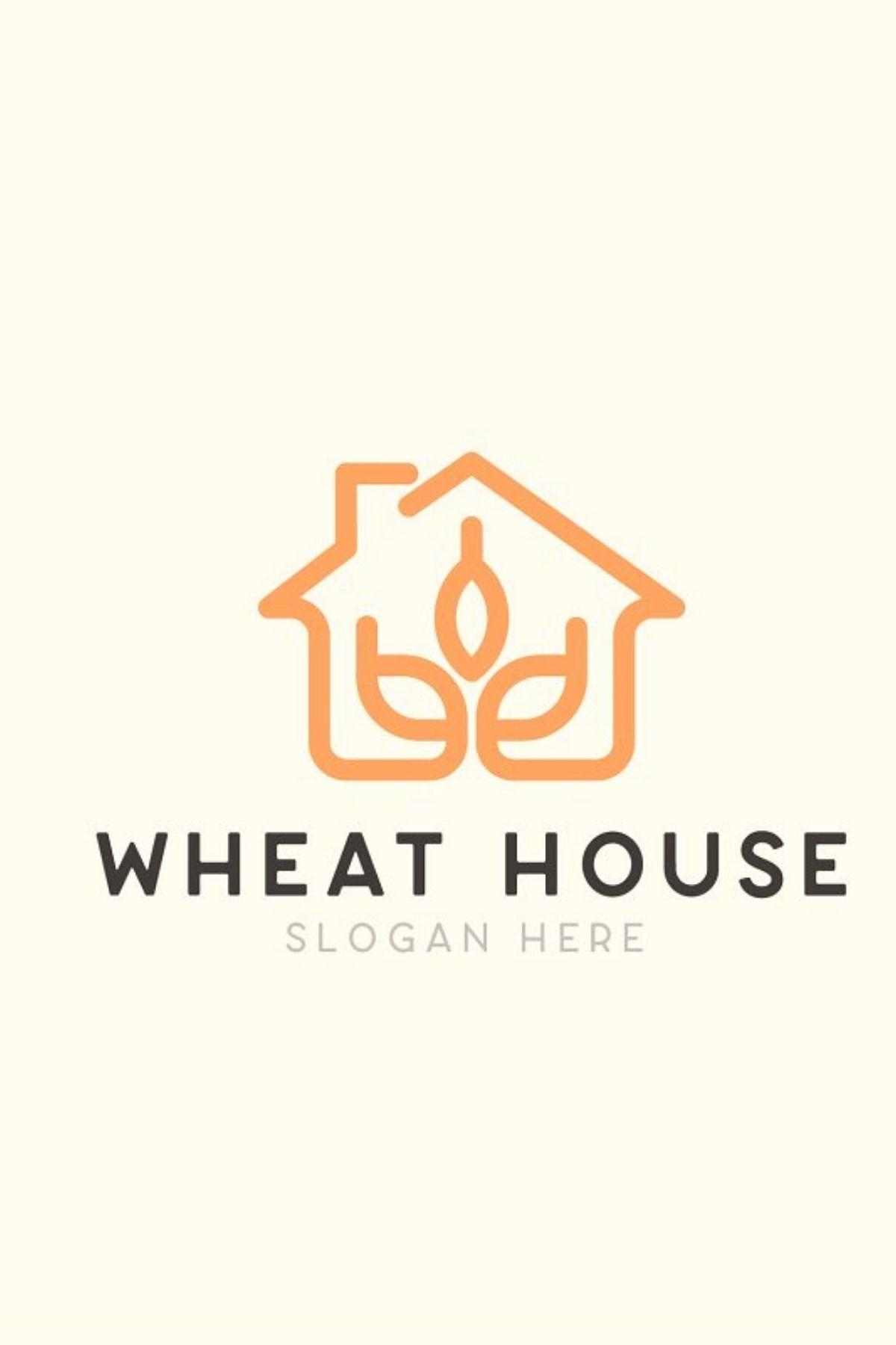 wheat house farming logo template logo templates logos vector logo