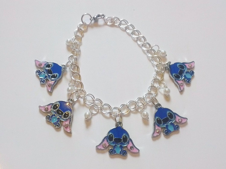 Stitch from Lilo and Stitch Charm Bracelet. | Stitch disney