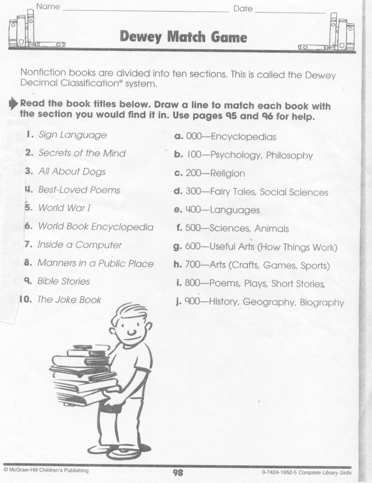 worksheet Dewey Decimal Worksheet dewey decimal worksheet for kids printable blog cheat sheet google search library stuff